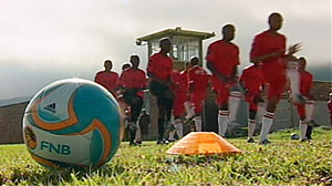 Photo: Soccer Saves: Soccer Team Changes Lives at South African Prison: Christian Missionaries Bring Soccer and God to Lure Prisoners from Gang Life