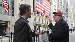 Photo: Michael Moore: Wall Street is Enemy of Democracy: Controversial Director Goes Latest Film Capitalism: A Love Story