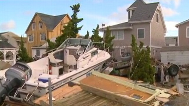 Superstorm Sandy Wrecks Gas Lines in NJ