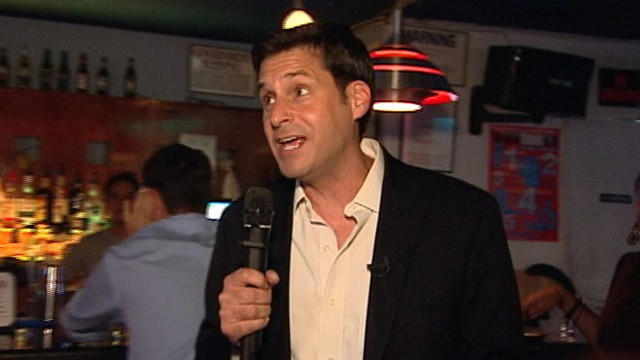 "VIDEO: ABC News John Berman sings ""Copacabana"" at a New York City karaoke bar."