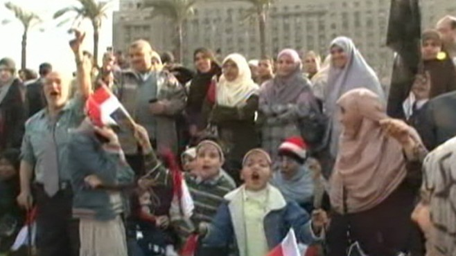 Protestors at Egyptian Parliament
