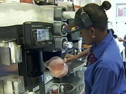 Through McDonalds Golden Arches