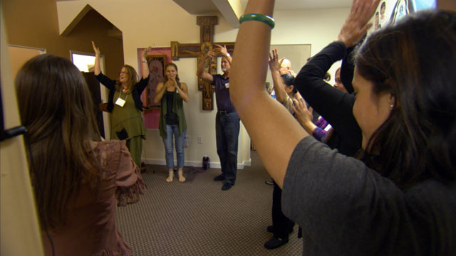 "PHOTO: The Berkeley Psychic Institute in Berkeley, Calif. hosts ""psychic kindergarten"" classes, or beginner lessons for clairvoyants, where they learn how to read colored spirits, feel chakras and ""blow roses."""