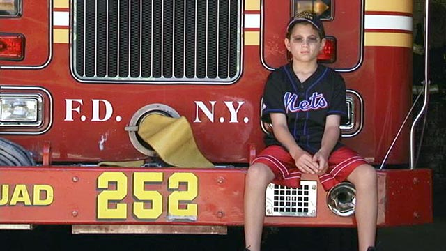 PHOTO:Now almost 10 years old, family members say Patrick Lyons bears an eerie resemblance to his late father, a NY firefighter who died on 9/11.