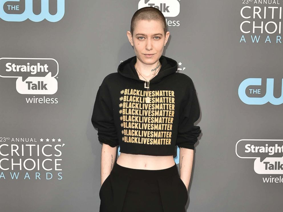 PHOTO: Asia Kate Dillon attends The 23rd Annual Critics Choice Awards at The Barker Hanger in this Jan. 11, 2018 file photo in Santa Monica, Calif.