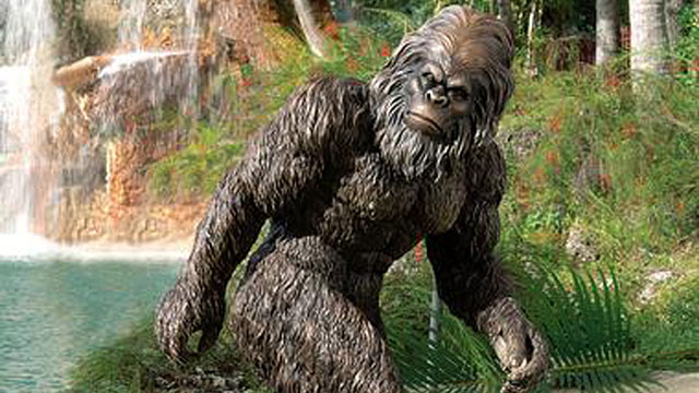 PHOTO:Bring the elusive, hairy Himalayan legend to life in your backyard with this two-foot-tall garden statue of Bigfoot.