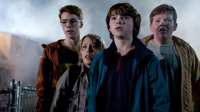 PHOTO: Gabriel Basso plays Martin, Ryan Lee plays Cary, Joel Courtney plays Joe Lamb, and Riley Griffiths plays Charles in SUPER 8, from Paramount Pictures.