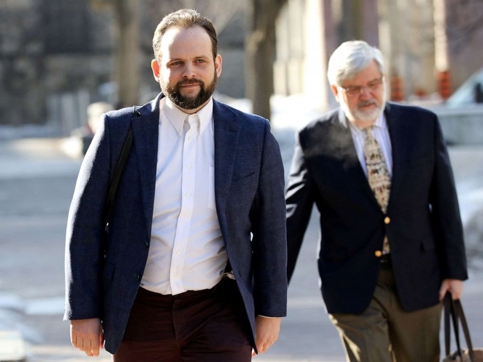 PHOTO: Former Taliban hostage Joshua Boyle, who is facing criminal charges in Canada related to incidents after his release from captivity, arrives at the courthouse in Ottawa, Ontario, Canada, March 27, 2019.