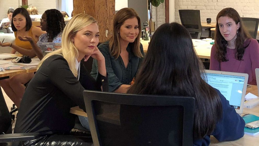 Karlie Kloss mentors girls learning to code at The Flatiron School in New York.