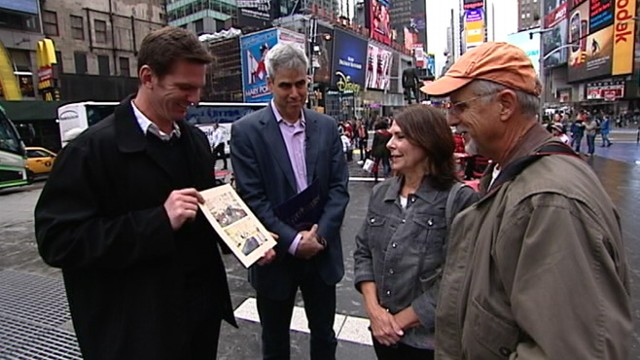 """VIDEO: """"Nightline"""" anchor Bill Weir heads to NYCs Times Square to test social psychologist Jonathan Haidts theory."""