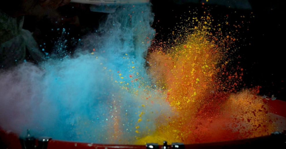 PHOTO: The Slow Mo Guys film every day objects like paint using super slow motion technology.