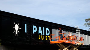 Artists revamp the graffiti-laden bridges that run over West Fayette Street and West Street in Syracuse, N.Y.