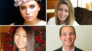 Lauren Kessler, Chelsea Prince, Jessica Mah and Bradly Ericson