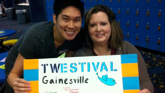 PHOTO The Gainesville, Fla. ?twestival? kicked off March 24 to support the Sebastian Ferrero Foundation, an organization that is raising money to create a state-of-the-art childrens hospital in Gainesville.