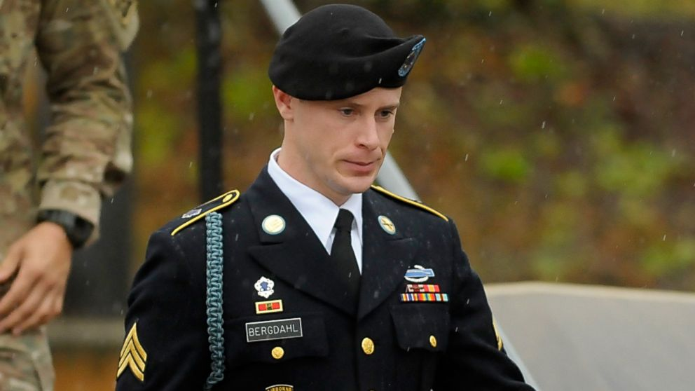 Army Sgt. Bowe Bergdahl leaves a military courthouse, Dec. 22, 2015, in Ft. Bragg, N.C.