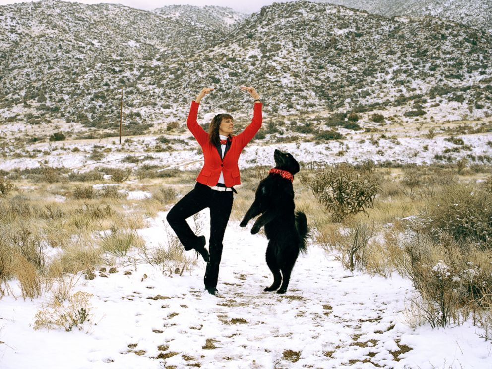 PHOTO:Frances and Candy strike a dance pose in Albuquerque, N.M.