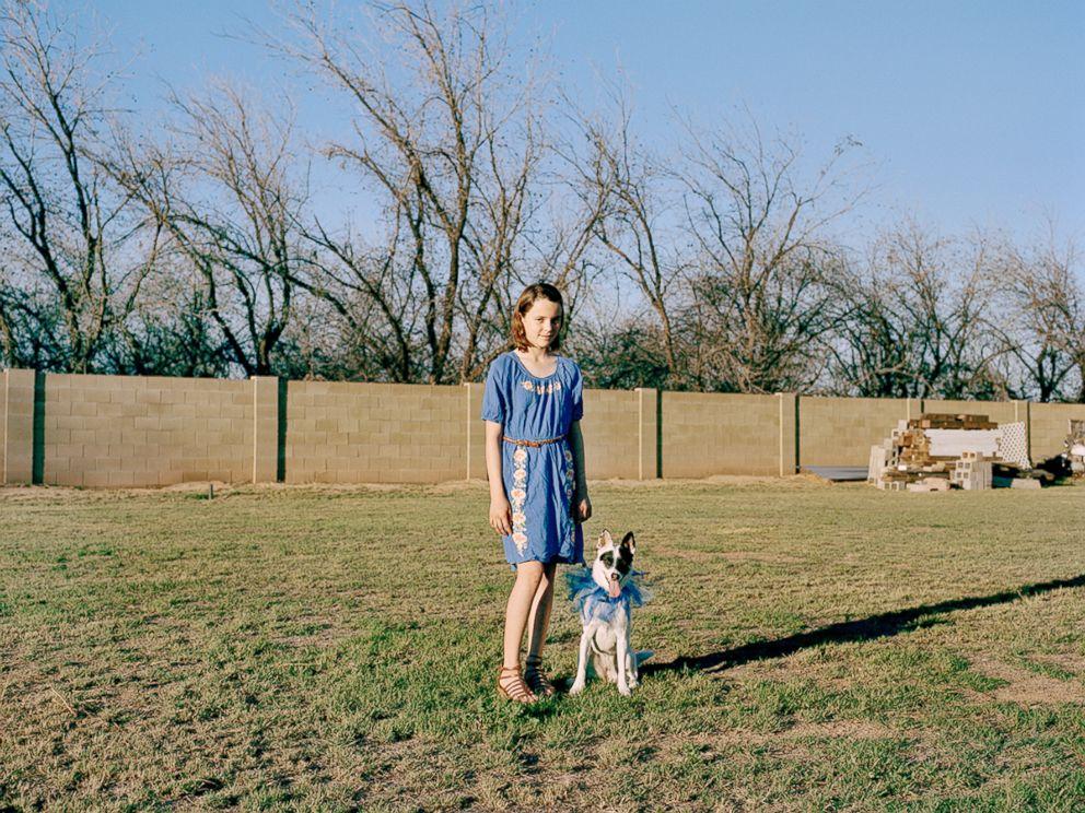PHOTO:Rylee poses with her dancing partner, Izzy, in Quenn Creek, Ariz.