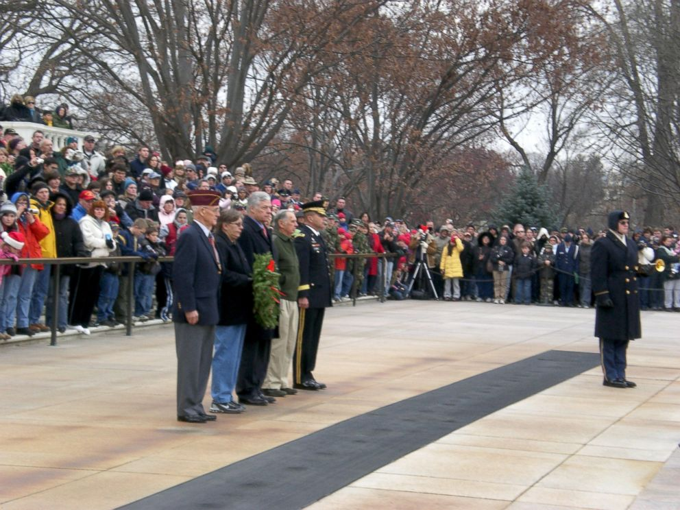 PHOTO: In 2007, Kenneth Spilman earned the honor of laying a wreath at the Tomb of the Unknown Soldier.
