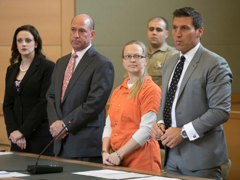 PHOTO: Angelika Graswald stands with her attorneys in Orange County court in Goshen, N.Y., July 24, 2017.