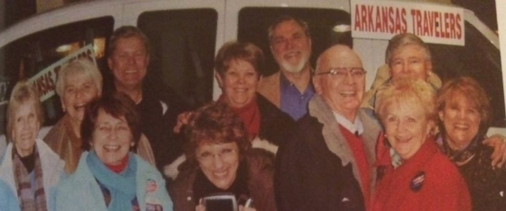 "PHOTO: The ""Arkansas Travelers for Bill"" campaigning for Bill Clinton in 1992. The group is about to hit the road to campaign for Hillary Clinton."
