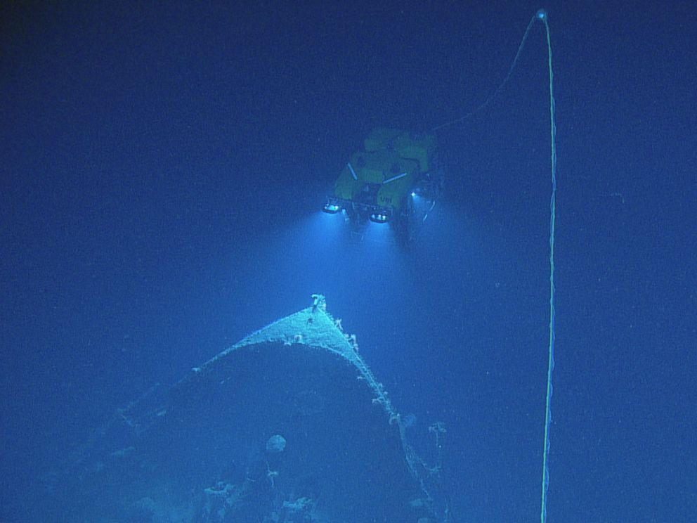 PHOTO: This image made from the A Tale of Two Wrecks: U-166 and SS Robert E. Lee video shows the remains of the SS Robert E. Lee ship.