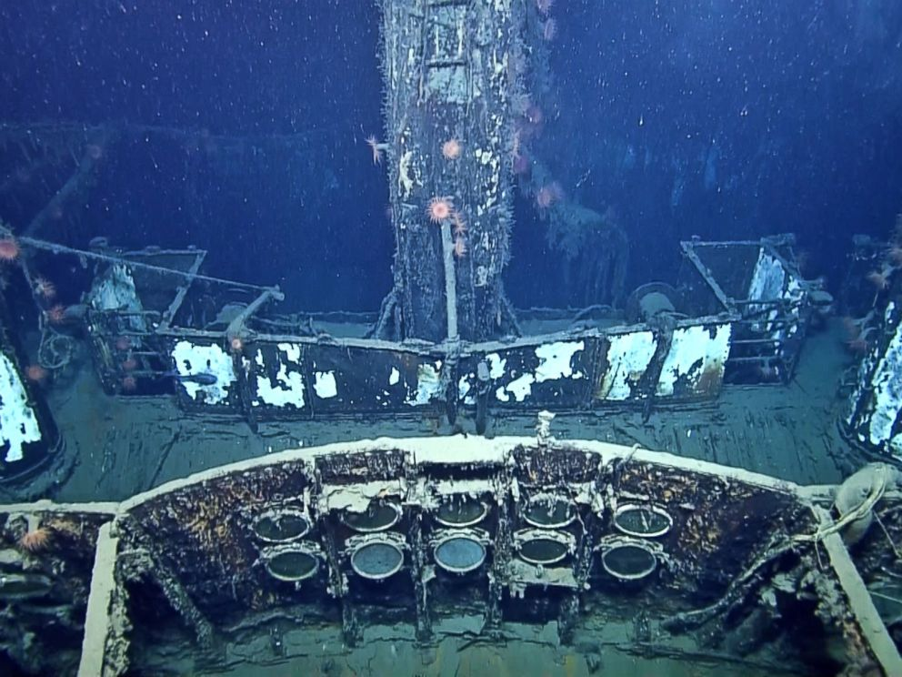 PHOTO: The top deck of the SS Robert E. Lee is seen in an image made from the A Tale of Two Wrecks: U-166 and SS Robert E. Lee video.