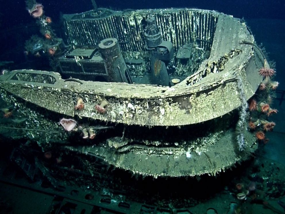 PHOTO: Depth charges sank the U-166 U-boat which is now considered to be a war gravesite.