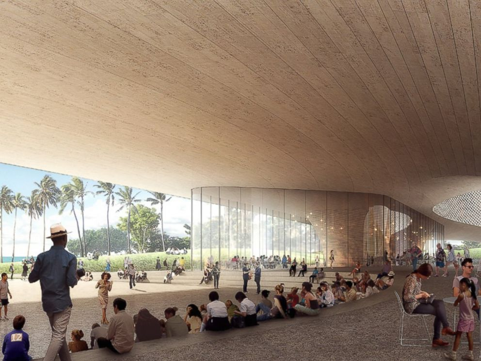 PHOTO: Artists rendition of proposed Obama Presidential Center in Honolulu, Hawaii, designed by firms Snohetta and WCIT Architecture.