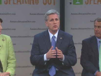 Video of House Republicans launching America Speaking Out initiative.