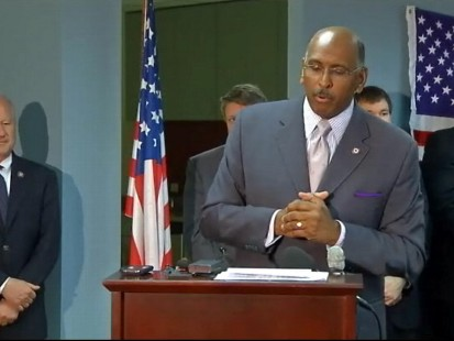 VIDEO of Michael Steele making his first public appearance since controversial comments