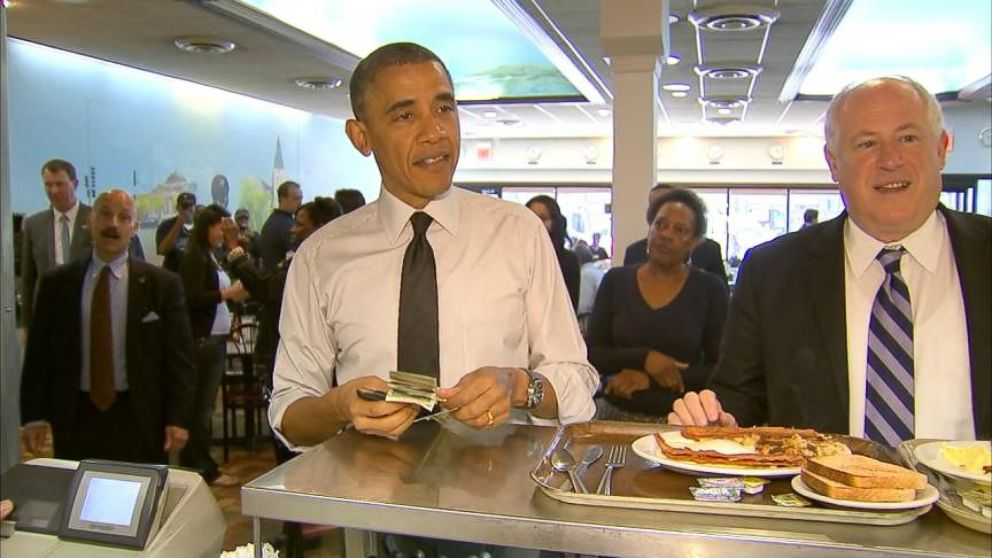 VIDEO: Obama Makes A Surprise Stop For Breakfast
