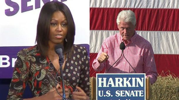VIDEO: Michelle Obama, Bill Clinton Flub Iowa Senate Candidates Name
