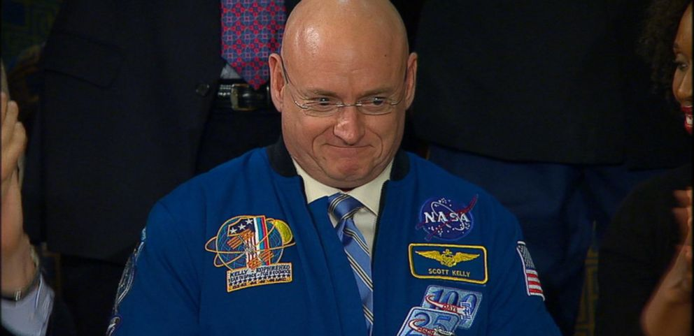 """VIDEO: The president mentions astronaut Scott Kelly as part of """"re-energized space program."""""""