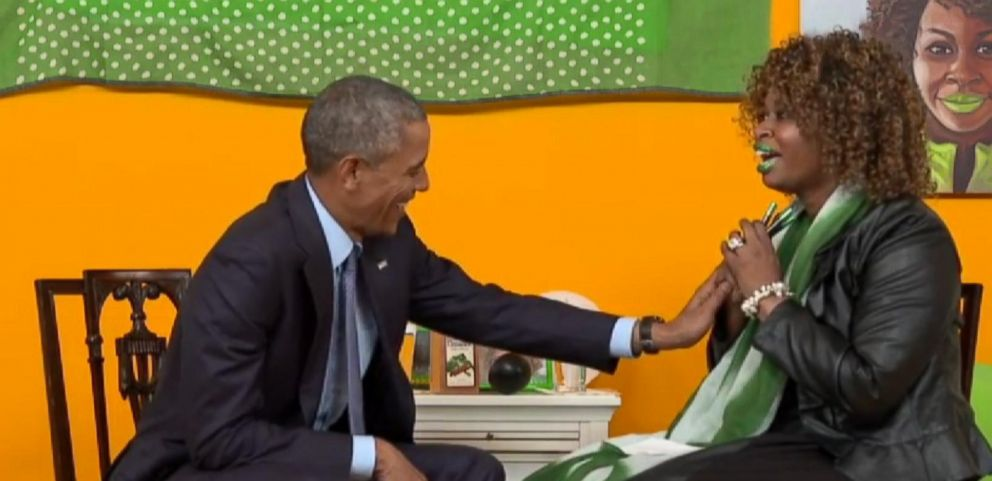 VIDEO: President Obama laughs off the flub.