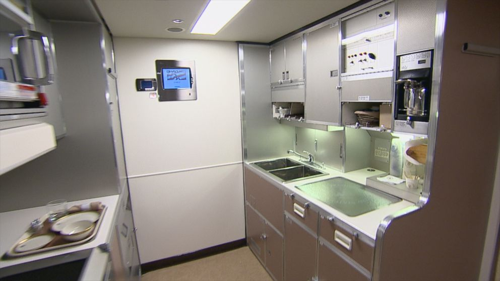 Inside air force one galley video abc news Air force one interior