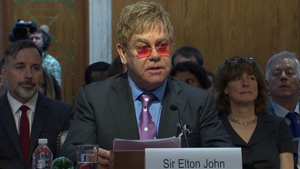 211167938d1d Elton John on Ongoing 'Fight Against AIDS' - ABC News