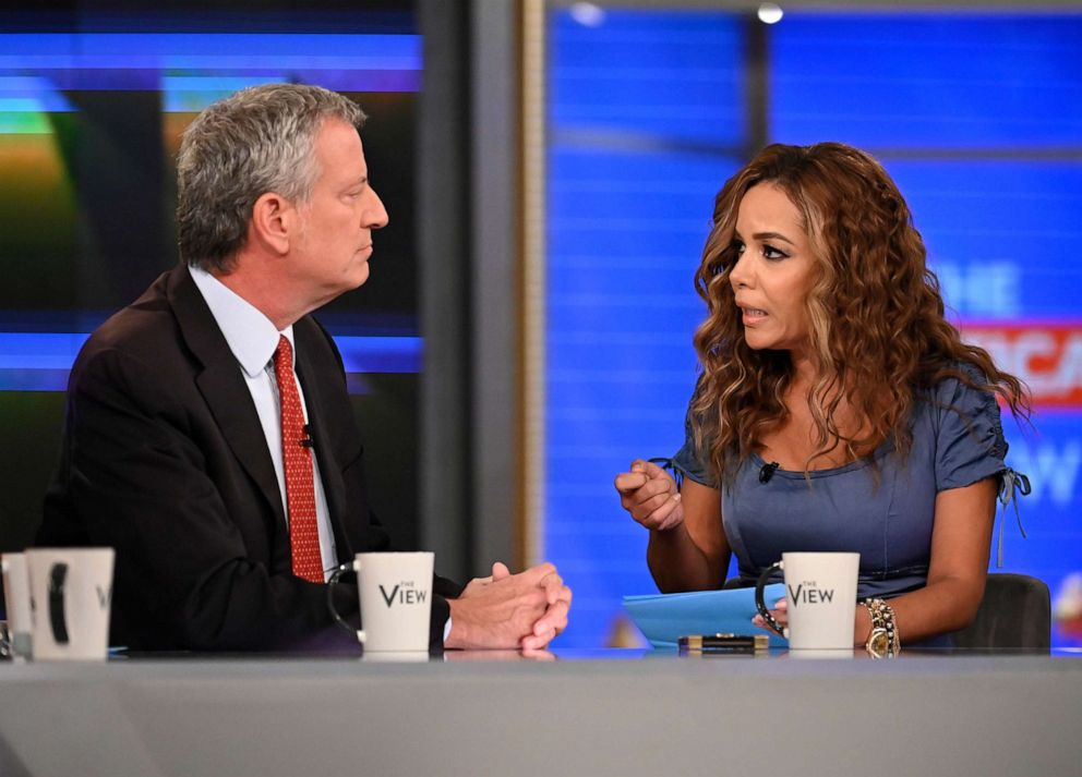 PHOTO: New York City Mayor Bill de Blasio appears on ABCs The View.