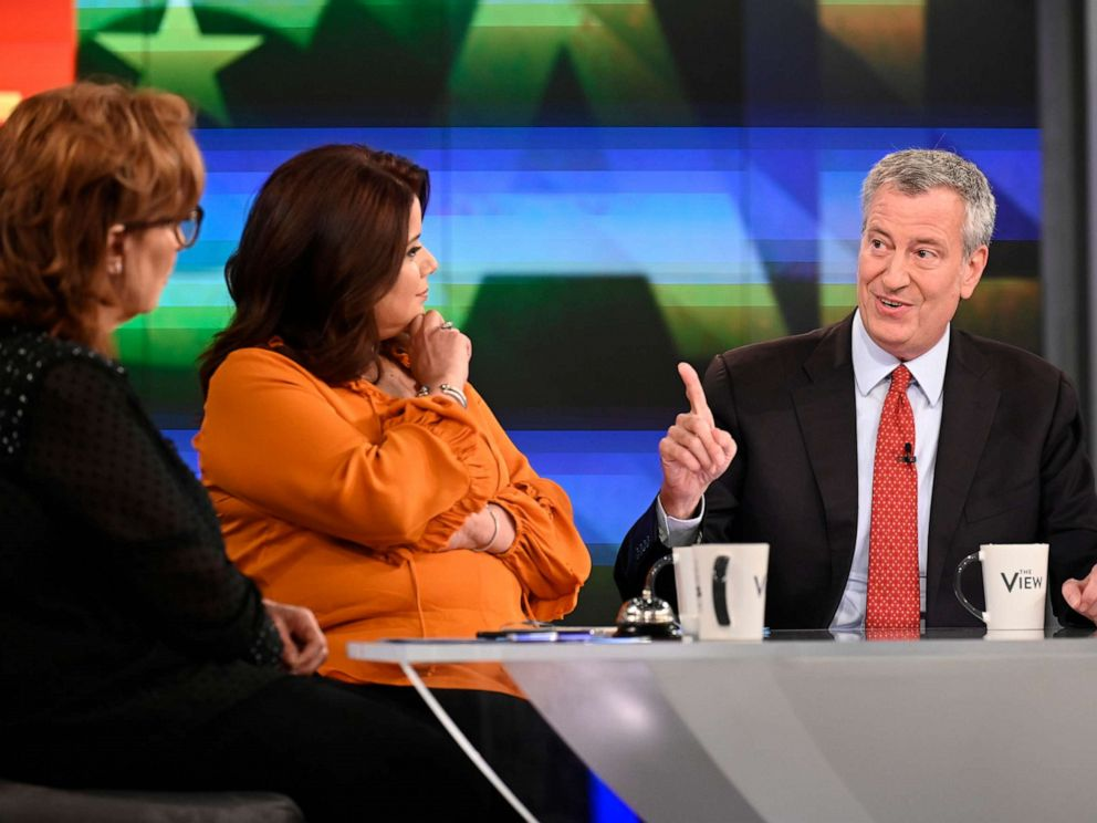 PHOTO:Mayor Bill de Blasio appears on ABCs The View.