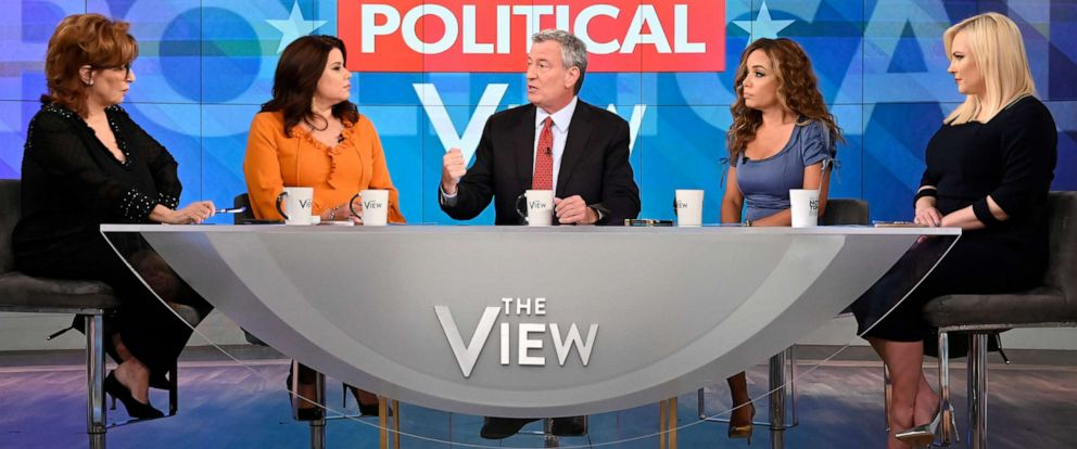 "PHOTO: New York City Mayor Bill de Blasio appears on ABCs ""The View"" to discuss his 2020 presidential bid."