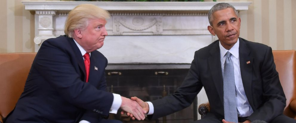 Obama undone in first year trump unravels predecessors signature photo president barack obama and president elect donald trump shake hands during a transition m4hsunfo