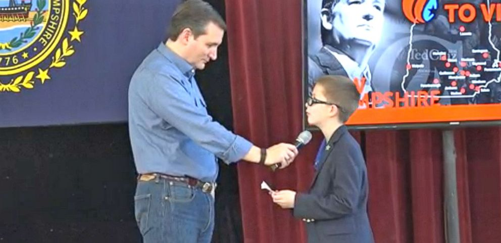 VIDEO: 9 Year Old Asks Ted Cruz About Hillary Clinton