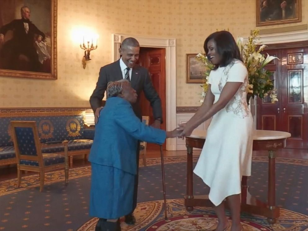 VIDEO: President Obama and first lady Michelle Obama hosted 106-year-old Virginia McLaurin at the White House more than a year after a petition was launched to get her an invite.