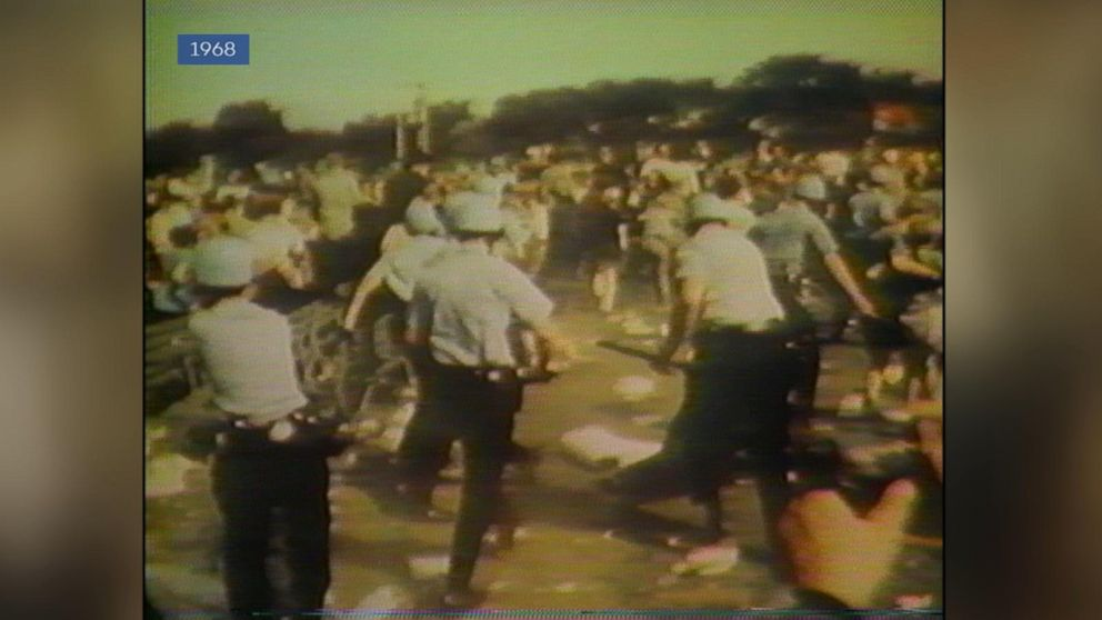 ARCHIVAL VIDEO Protests Turn Violent At The 1968 Democratic National Convention