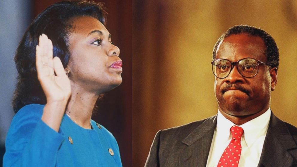 Image result for Anita Hill with Thomas in 1991