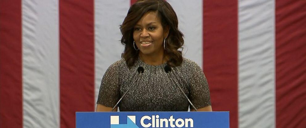 PHOTO: First lady Michelle Obama speaking in Phoenix, Arizona, Oct. 20, 2016.