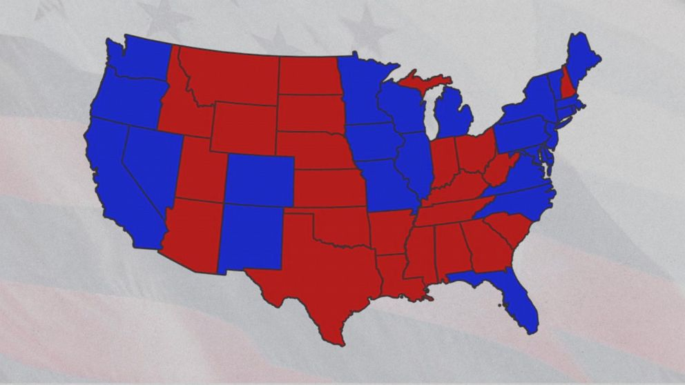 Youll Never Guess Why Republicans Are Red Democrats Blue Abc News