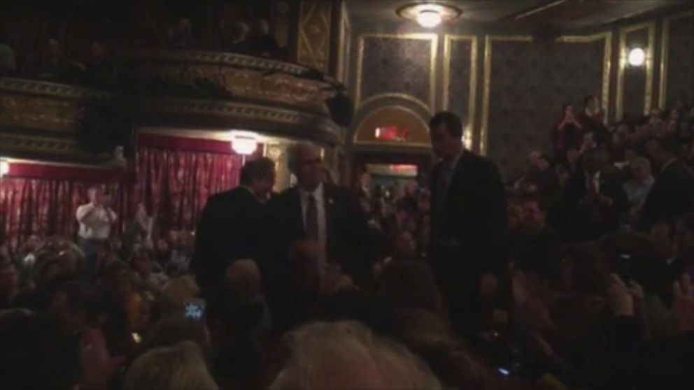 VIDEO: Mike Pence Attends Broadway Musical Hamilton With Family Members