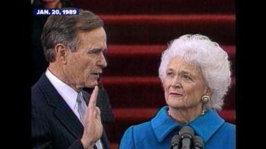 Former President George H.W. Bush hospitalized Video Former President George H.W. Bush hospitalized Video 161230 abc archives hwbush inauguration 16x9 384