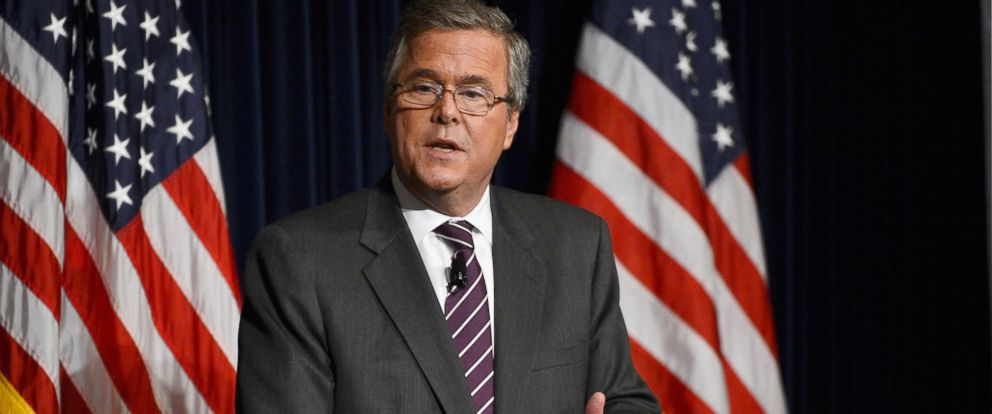 """PHOTO: Former Florida Governor Jeb Bush speaks at the Reagan Library after autographing his new book """"Immigration Wars: Forging an American Solution"""" in Simi Valley, Calif., March 8, 2013."""