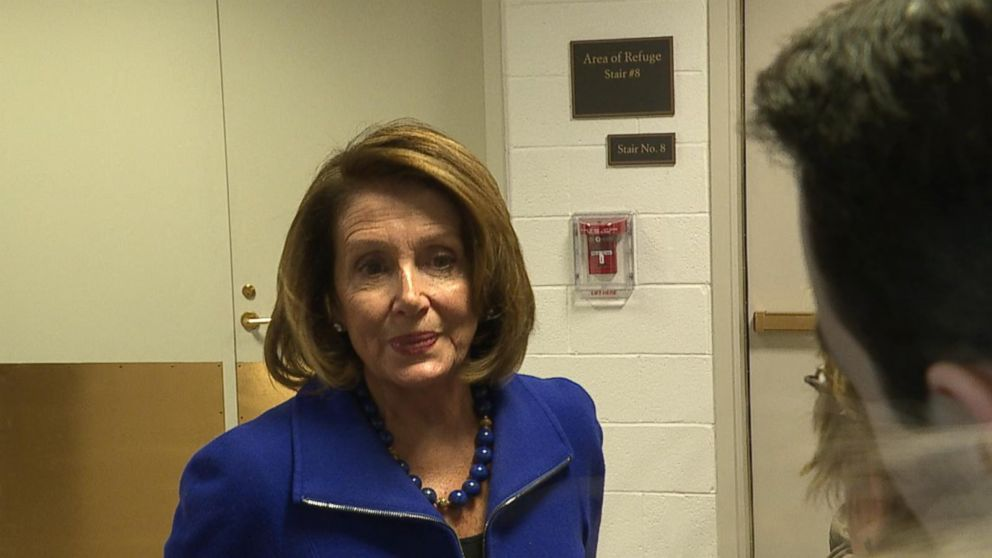 The House minority leader gave her remark after an intelligence briefing.